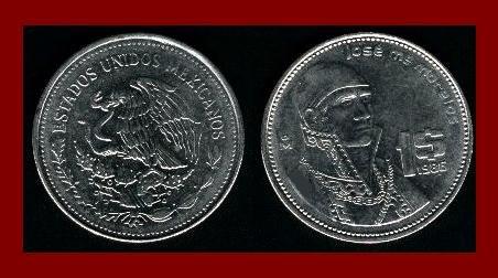MEXICO 1985 1 PESO STEEL COIN KM#496 Central America ~ Jose Morelos y Pavon ~ BEAUTIFUL!