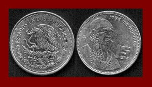 MEXICO 1984 1 PESO STEEL COIN KM#496 Central America ~ Jose Morelos y Pavon ~ BEAUTIFUL!