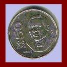 MEXICO 1988 50 PESOS COIN KM#495 Central America ~ President Benito Perez