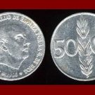 SPAIN 1966 50 CENTIMOS COIN KM#795 Francisco Franco