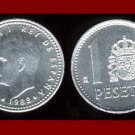 SPAIN 1989 1 PESETA COIN KM#821 Y140.1 KING JUAN CARLOS I