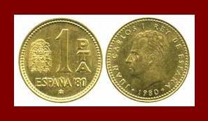 SPAIN 1980(82) 1 PESETA PTA COIN KM#821 KING JUAN CARLOS I ~ Commemorative World Cup Soccor Games