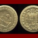 SPAIN 1966(69) 1 PESETA COIN KM#796 ~ Francisco Franco ~ BEAUTIFUL!