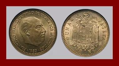 SPAIN 1953(56) 10 CENTIMOS COIN KM#775 Francisco Franco