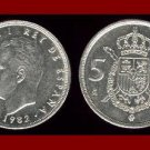 SPAIN 1982 5 PESETAS PTAS COIN KM#823 Y128a - King Juan Carlos I ~ BEAUTIFUL!