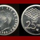 SPAIN 1980(82) 25 PESETAS PTAS COIN KM#818 Y135 KING CARLOS I ~ Commemorative World Cup Soccer Games
