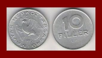 HUNGARY 1985 10 FILLER COIN KM#572 ~ Dove of Peace