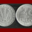 HUNGARY 1988 20 FILLER COIN KM#573 ~ 3 Wheat Stalks