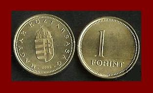 HUNGARY 2004 1 FORINT BRASS COIN KM#692 ~ BEAUTIFUL!