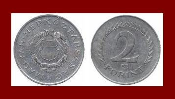 HUNGARY 1966 2 FORINT COIN KM#556a