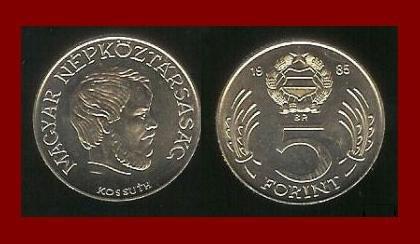 HUNGARY 1985 5 FORINT COIN KM635 Europe - Lajos Kossuth