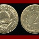 YUGOSLAVIA 1972 2 DINARA COPPER NICKEL ZINC COIN KM#57 COMMUNIST COIN