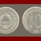 YUGOSLAVIA 1983 10 DINARA COPPER NICKEL COIN KM#89 - COMMUNIST COIN ~ BEAUTIFUL!