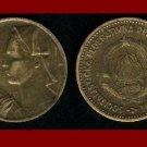 YUGOSLAVIA 1963 10 DINARA ALUMINUM BRONZE COIN KM#39 - COMMUNIST COIN ~ SCARCE!