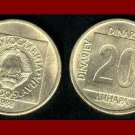 YUGOSLAVIA 1988 20 DINARA BRASS COIN KM#132 - COMMUNIST COIN ~ BEAUTIFUL!