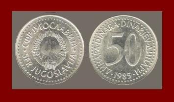 YUGOSLAVIA 1985 50 DINARA COPPER NICKEL ZINC COIN KM#113 - COMMUNIST COIN ~ BU ~ BEAUTIFUL!
