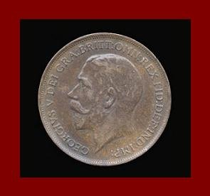 England United Kingdom Great Britain UK 1911 1 ONE PENNY BRONZE COIN KM#810 Warrior Queen Britannia