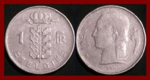 BELGIUM 1952 1 FRANC COIN KM#143.1 Europe - BELGIE Dutch Legend