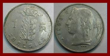 BELGIUM 1963 1 FRANC COIN KM#143.1 Europe - BELGIE Dutch Legend