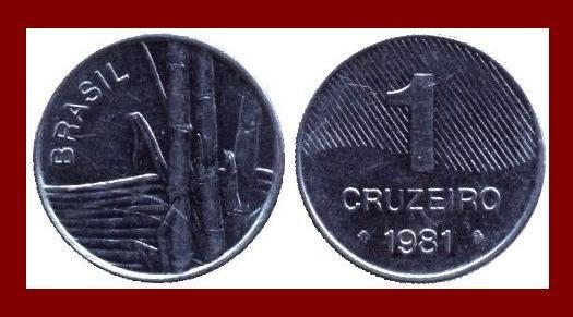 BRAZIL 1981 1 CRUZEIRO COIN KM#590 South America ~ XF BEAUTIFUL!