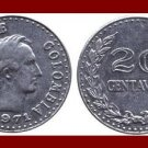 COLOMBIA 1971 20 CENTAVOS COIN KM#245 South America - Francisco de Paula Santander