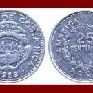 COSTA RICA 1989 25 CENTIMOS COIN KM#188.3 Central America - XF BEAUTIFUL!