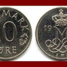 DENMARK 1977 10 ORE COIN KM#860.1 Queen Margrethe II - Crowned M