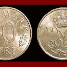 DENMARK 1988 10 ORE COIN KM#860.3 Queen Margrethe II - Crowned M