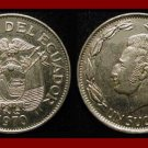 ECUADOR 1970 1 SUCRE COIN KM#78.b - Antonio Jose de Sucre - South America - XF BEAUTIFUL!