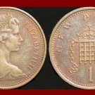 England United Kingdom Great Britain UK 1976 1 NEW PENNY BRONZE COIN KM#915 Crowned Porticullis
