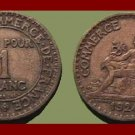 FRANCE 1924 1 FRANC COIN KM#876 Europe - French Chamber of Commerce Series - BEAUTIFUL! SCARCE!