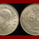 TURKEY 1985 50 LIRA COIN KM#966 Mustafa Kemal Ataturk - BEAUTIFUL!