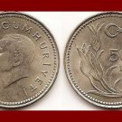 TURKEY 1992 5000 LIRA COIN KM#1025 Tulips - Mustafa Kemal Ataturk