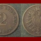 Empire GERMANY 1875(A) 2 PFENNIG COPPER COIN KM#2 Kaiser Friedrich Wilhelm I - XF - BEAUTIFUL!