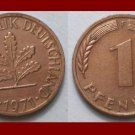 WEST GERMANY 1971(F) 1 PFENNIG COIN KM#105 Europe - Federal Republic of Germany - Post WWII Coin