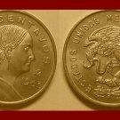 MEXICO 1963 5 CENTAVOS BRASS COIN KM#426 Dona Josefa Ortiz de Dominquez