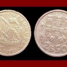 PORTUGAL 1985 2 1/2 (HALF) ESCUDOS COIN KM#590 Europe ~ Galleon Ship