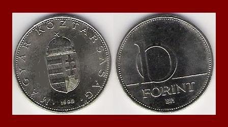 HUNGARY 1993 10 FORINT COIN KM#695 Europe