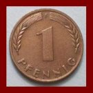 WEST GERMANY 1972(F) 1 PFENNIG COIN KM#105 Europe - Federal Republic of Germany - Post WWII Coin