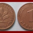 WEST GERMANY 1978(J) 1 PFENNIG COIN KM#105 Europe - Federal Republic of Germany - Post WWII Coin