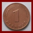 WEST GERMANY 1980(J) 1 PFENNIG COIN KM#105 Europe - Federal Republic of Germany - Post WWII Coin