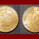 GERMANY 1994 (F) 10 PFENNIG COIN KM#108 - BUNDESREPUBLIK DEUTSCHLAND - PRE EURO