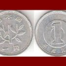 JAPAN 1961 1 YEN COIN Y#74 Emperor Hirohito - Showa Era Year 36