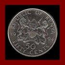KENYA 1994 50 CENTS COIN KM#19a - XF BEAUTIFUL - PRESIDENT DANIEL TOROITICH ARAP MOI