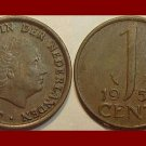 NETHERLANDS 1954 1 CENT BRONZE COIN KM#180 Queen Juliana