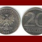 POLAND 1990 20 ZLOTYCH COIN Y#153.2 Europe