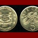 SINGAPORE 1997 5 CENTS COIN KM#99 Asia - Fruit Salad Plant