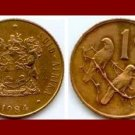 SOUTH AFRICA 1984 1 CENT BRONZE COIN KM#82 - Suid Bilingual Legend