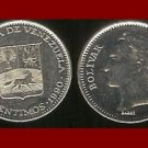 VENEZUELA 1990 50 CENTIMOS COIN Y#41a South America El Libertator Simon Bolivar - XF BEAUTIFUL!