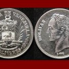 VENEZUELA 1990 2 BOLIVARES COIN Y#43a.1 South America El Libertator Simon Bolivar - XF BEAUTIFUL!